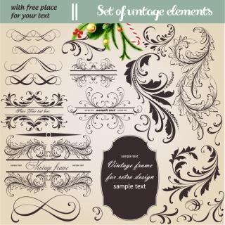 ヨーロッパ調の飾り罫 europeanstyle lace pattern イラスト素材1