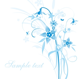 青い花の背景 Abstract Blue Floral Vector Illustration イラスト素材
