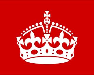王冠のシルエット clip art British Crown イラスト素材