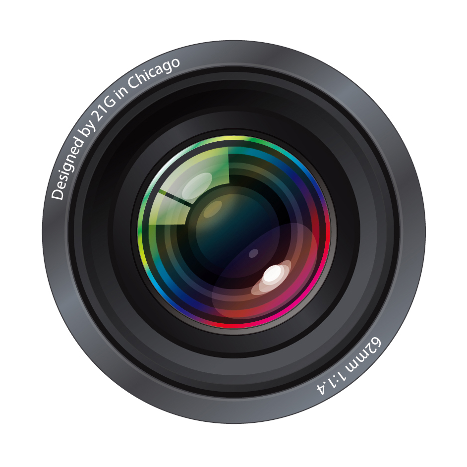 リアルなカメラレンズのクリップアート ultra-realistic camera lenses