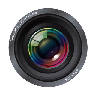 リアルなカメラレンズのクリップアート Ultra-Realistic Camera Lenses イラスト素材