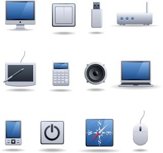 デジタル製品のアイコン digital technology products icon イラスト素材2
