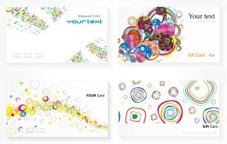 流行のカード デザイン テンプレート trend card template vector イラスト素材2