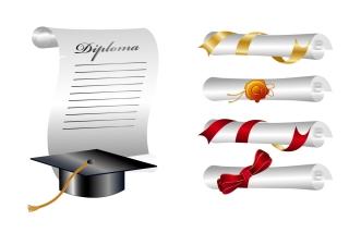 卒業をテーマにしたクリップアート school graduation clip art イラスト素材2
