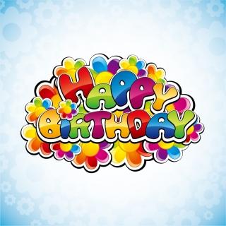 誕生日のロゴ デザイン Happy Birthday Vector Illustration イラスト素材