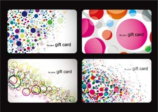 カラフルな円で描く背景 Modern Gift Card Templates イラスト素材