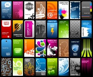 バラエティーに富んだカード テンプレート variety of card template vector the trend イラスト素材