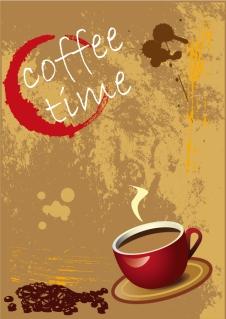 香り豊かな珈琲をテーマにした背景 aromatic coffee theme vector イラスト素材4