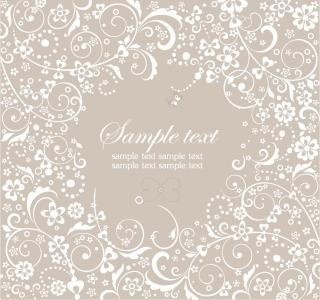 曲線が美しい花柄オーナメントの背景 Floral Ornament Vector Graphic イラスト素材