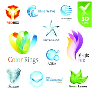 美しい立体アイコンのデザイン見本 beautiful 3d icon vector イラスト素材1