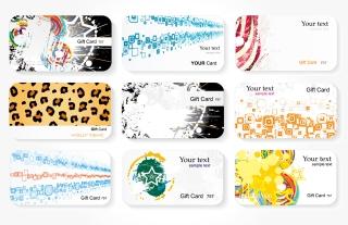 流行のカード デザイン テンプレート trend card template vector イラスト素材1