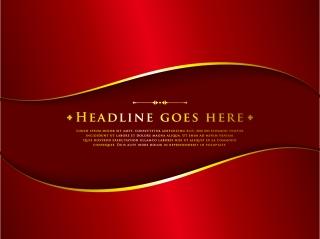 古典的で豪華な赤と金色の背景 classic luxury red background イラスト素材