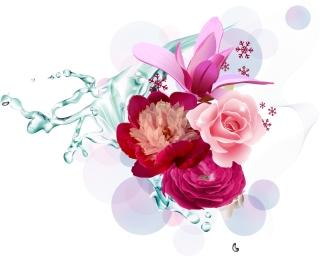 美しい花ビラのクリップアート Vector Flower Art イラスト素材