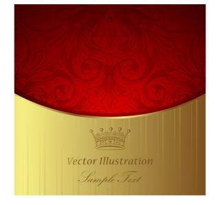 王冠マークの豪華な背景 european gorgeous classic pattern background イラスト素材