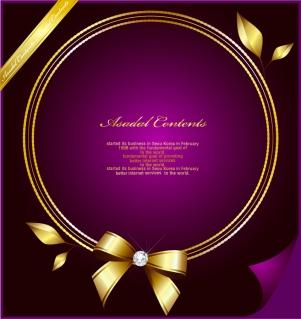 豪華な金のリボン飾りフレーム gorgeous gold lace border vector イラスト素材2
