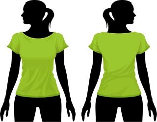 Tシャツのデザイン テンプレートTshirt design template イラスト素材3