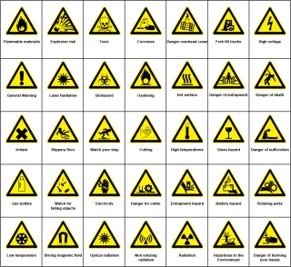 安全標識のデザイン見本 Sign Hazard Warning clip art イラスト素材
