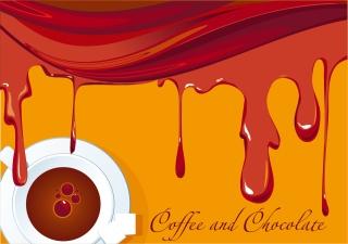 香り豊かな珈琲をテーマにした背景 aromatic coffee theme vector イラスト素材3