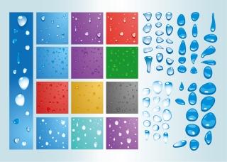 水滴のクリップアート Water Drops イラスト素材