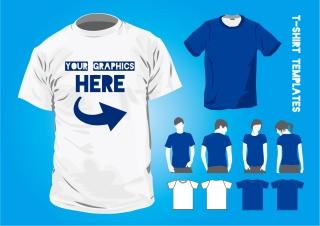 Tシャツのデザイン テンプレート T-Shirt Design Templates イラスト素材