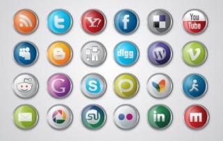 ソーシャルメディアのバッチ型アイコン集 Social Media Icon Pack イラスト素材