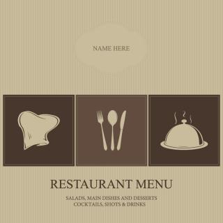 メニュー表紙デザイン見本 menu cover vector イラスト素材3