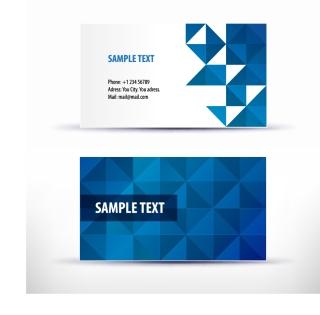 シンプルなパターン背景の名刺デザイン simple pattern business card template イラスト素材