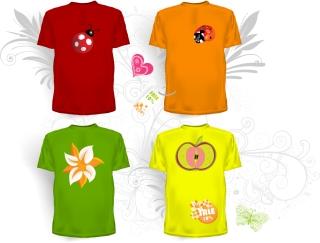 Tシャツのデザイン テンプレートTshirt design template イラスト素材4
