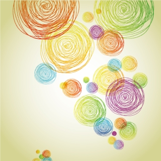 鉛筆で描いた渦巻きの落書き Abstract Pencil Scribble Background イラスト素材