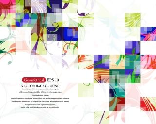 抽象的な色を重ねた鮮やかな背景 abstract brilliant colorful background イラスト素材