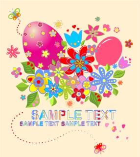 イースターカードの背景 Easter postcard illustration イラスト素材