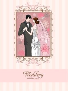 華やかな結婚式のカード テンプレート wedding card background イラスト素材