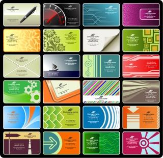 アーティスティックな背景の名刺テンプレート vector business card templates イラスト素材
