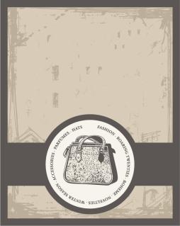 古風な帯付きのラベル デザイン european retro label background イラスト素材