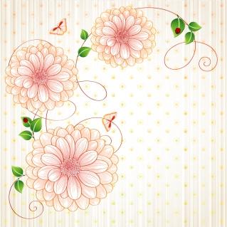 大輪の花ビラが美しい背景 Beautiful flowers vector background イラスト素材