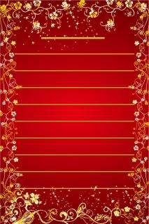 植物柄で囲んだ招待状の背景 vector floral greeting card イラスト素材