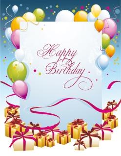誕生日カードの背景 happy birthday postcard イラスト素材