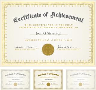 表彰状のデザイン フレーム certificate design vector イラスト素材