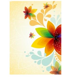 美しい抽象的な花の背景 abstract flower beauty backgrounds イラスト素材