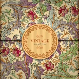 古典的な美しい植物柄表紙カバー beautiful classical pattern イラスト素材4