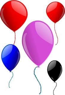 光沢ある風船のクリップアート clip art Some Balloons イラスト素材