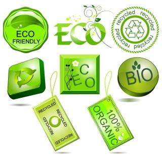 エコをイメージした緑のアイコン green series vector イラスト素材2