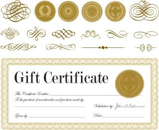 証明書の修飾素材クリップアート certificate ribbons badges material イラスト素材