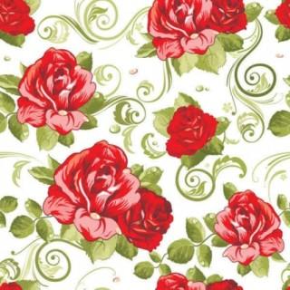 美しい赤い花びらの背景 Floral seamless pattern background イラスト素材