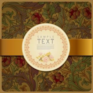 古典的な美しい植物柄表紙カバー beautiful classical pattern イラスト素材5