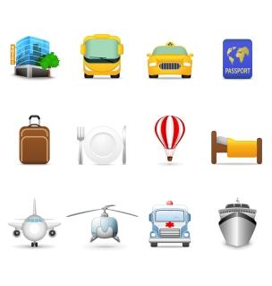 旅行をテーマにしたアイコン travel theme icon vector イラスト素材