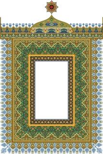 古典的なレース パターンのフレーム beautiful classical pattern lace イラスト素材8