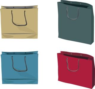 紙袋のクリップアート Paper Shopping Bags イラスト素材