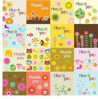 可愛いサンキュー カードの背景 cute thank you card イラスト素材