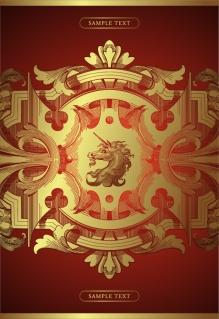 豪華な装飾の背景 gorgeous pattern background イラスト素材1